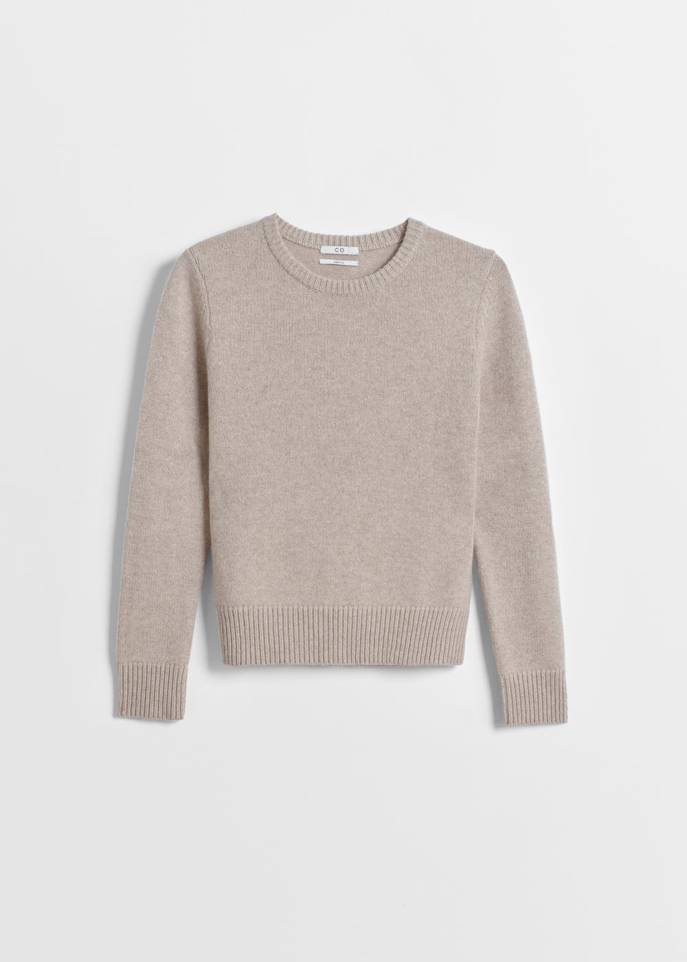 Classic Crew Neck in Cashmere - Light Grey in Sand Melange by Co Collections