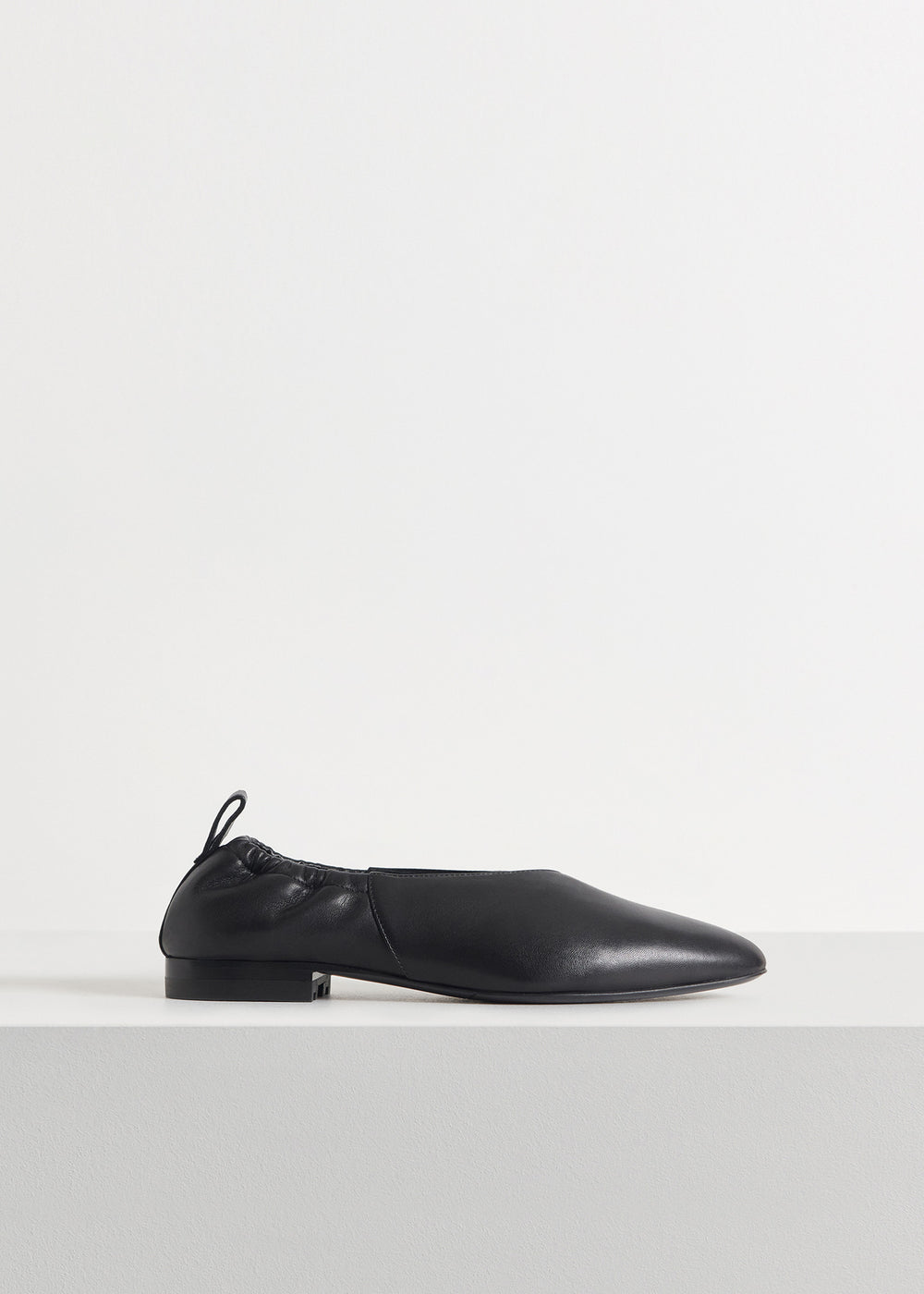 Ballet Flat in Smooth Leather - Black - CO