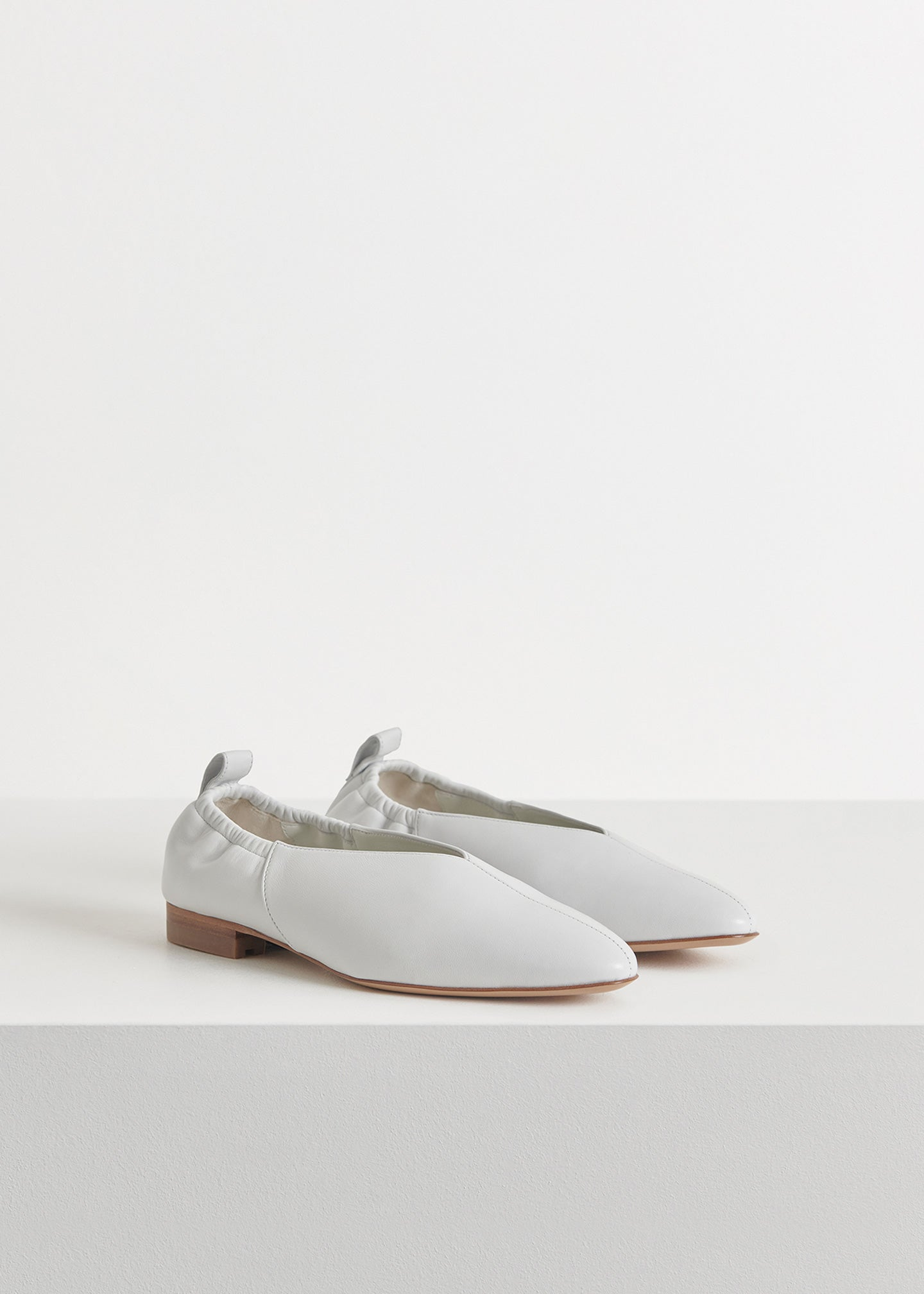 CO - Ballet Flat in Smooth Leather - Ivory