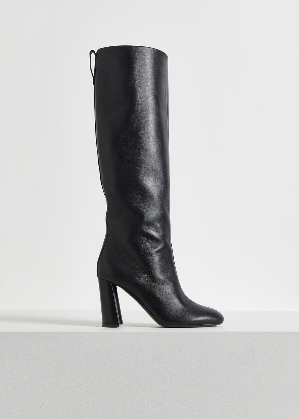 Tall Boot in Smooth Leather - Black - CO