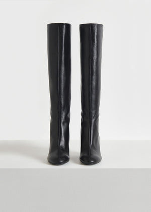 CO - Tall Boot in Smooth Leather - Black