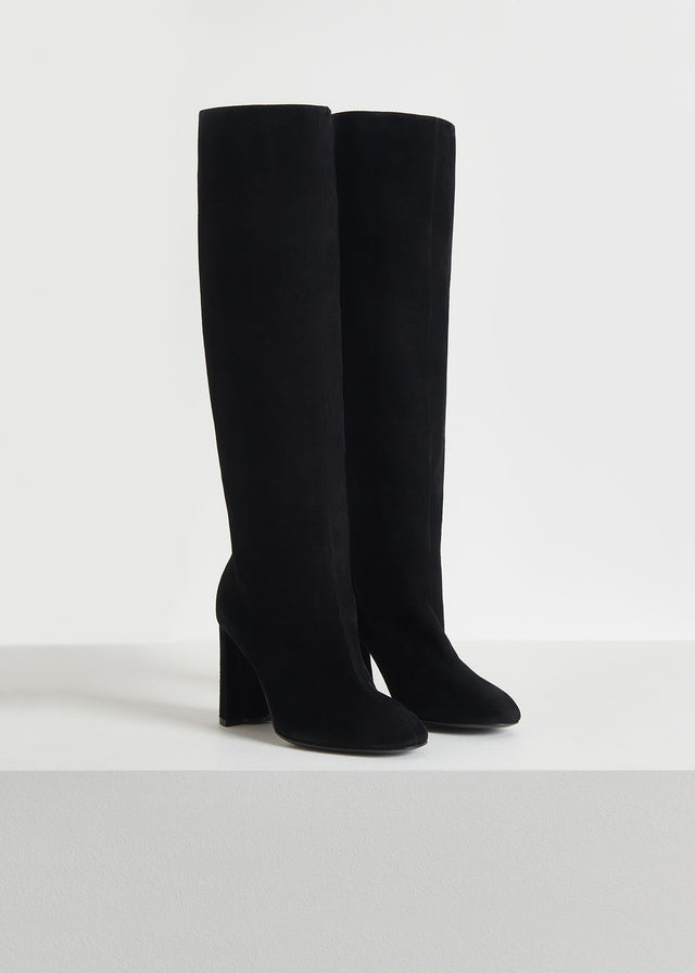 CO - Tall Boot in Suede - Black
