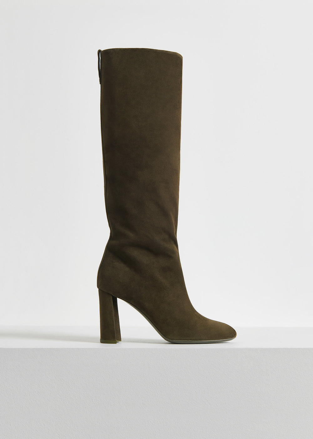 Tall Boot in Suede - Black in Taupe Special  by Co Collections