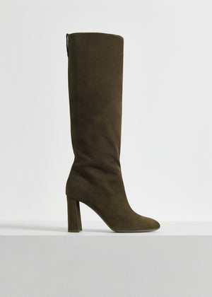 CO - Tall Boot in Suede - Taupe
