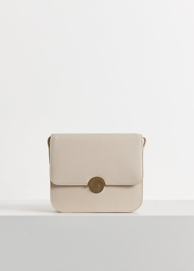 CO - Box Bag in Pebbled Leather - Ivory