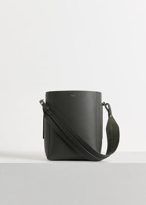 Small Bucket Bag in Pebbled Leather - CO