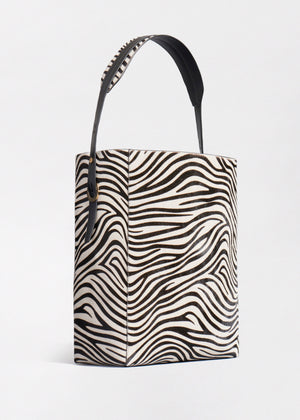 Classic Tote in Zebra Pony Hair - Co Collections