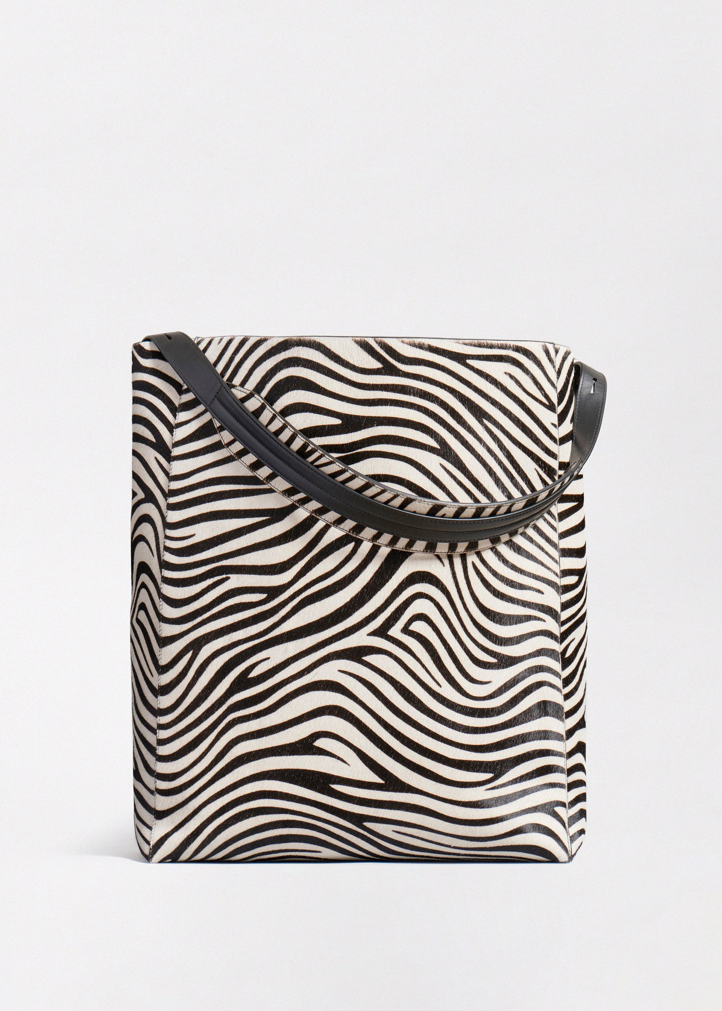 Classic Tote in Zebra Pony Hair - CO