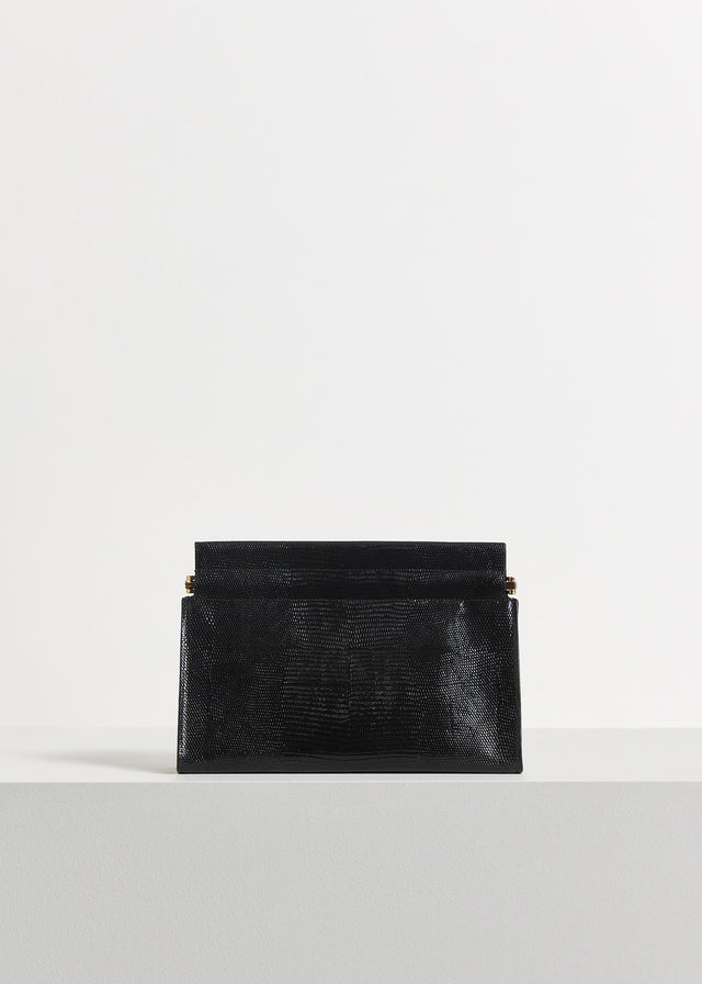 CO - Clutch in Embossed Leather - Black