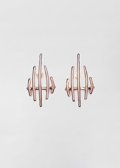 Sculptural Earrings in Bronze - CO