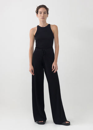 CO - Knit Pant in Merino Wool- Black
