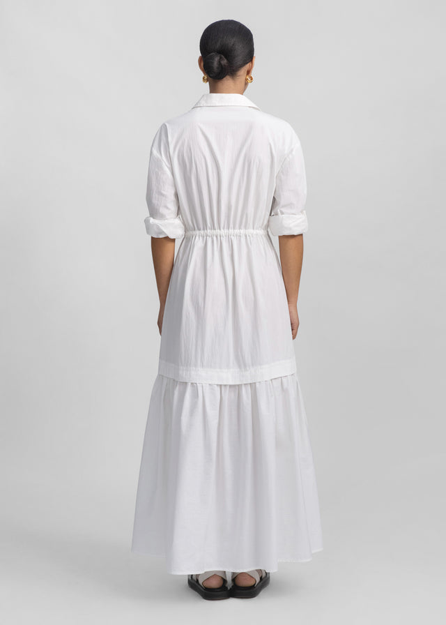 CO - Long Sleeve Tiered Dress - White