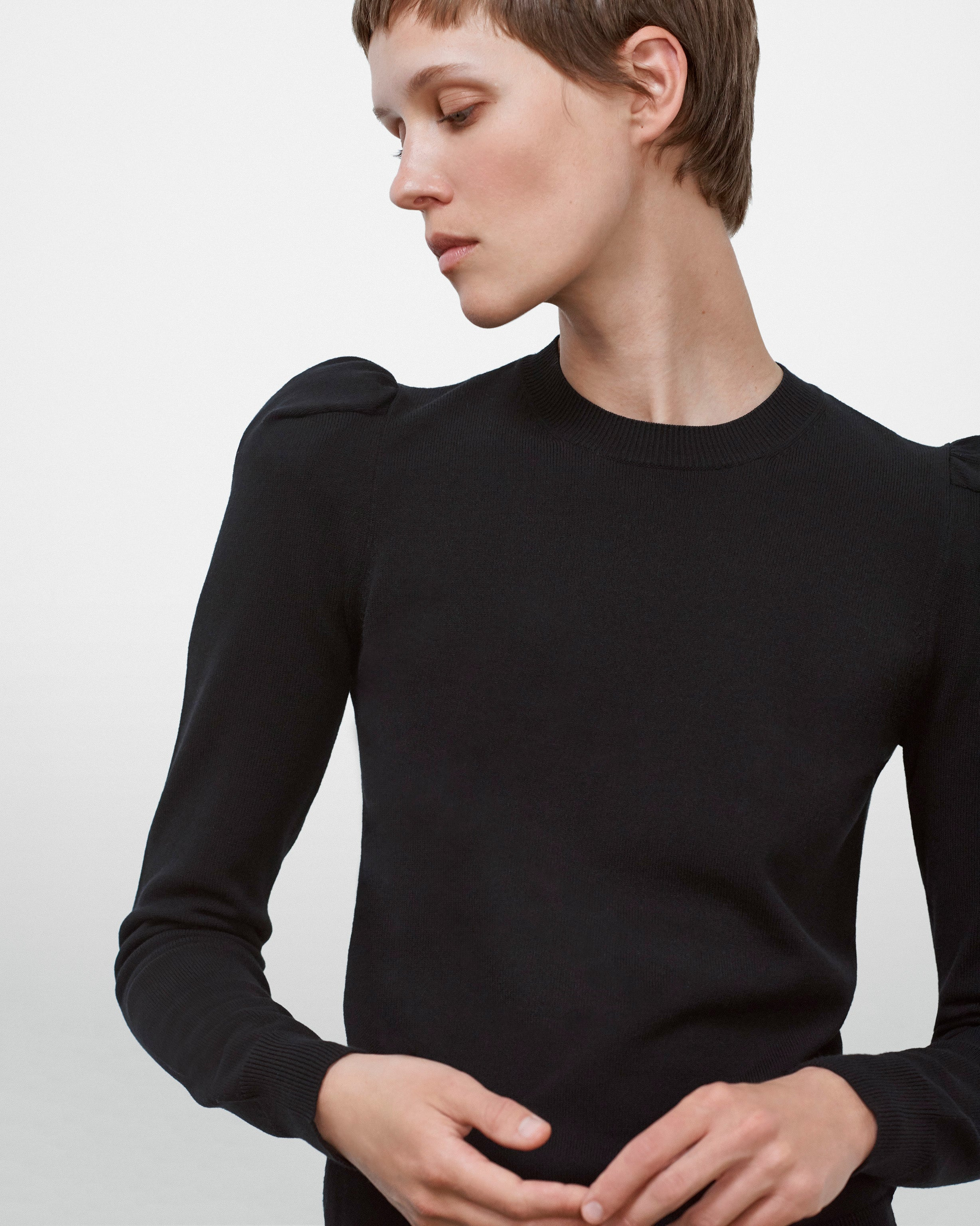 Puff Shoulder Sweater