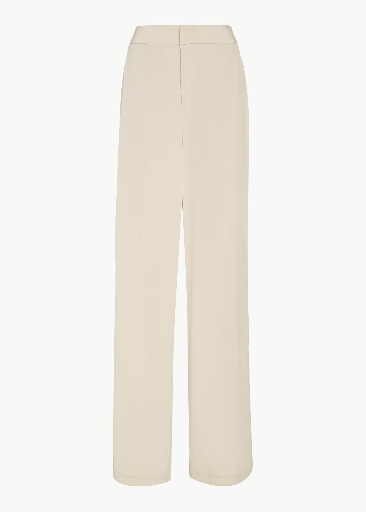 Relaxed Trouser in Stretch Crepe - Champagne