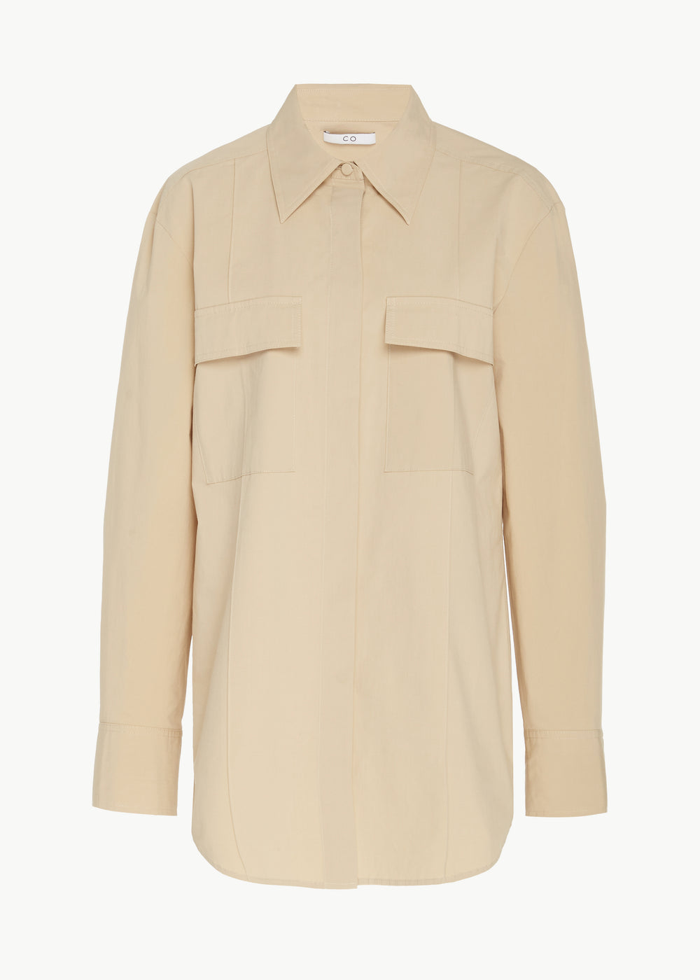 Utility Shirt in Winter Poplin - Sand - CO