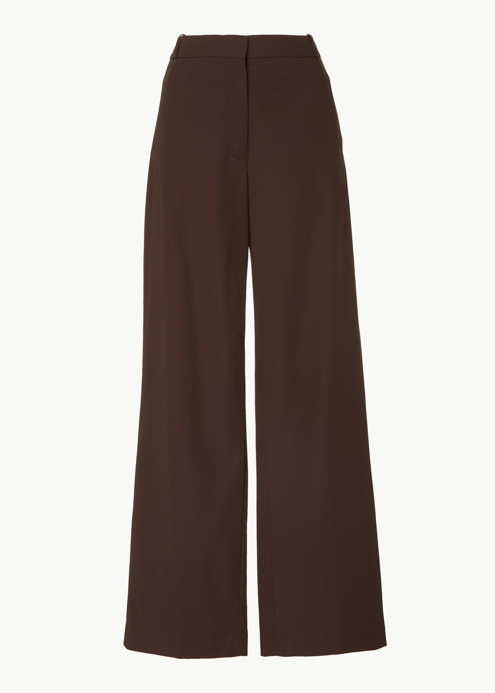Straight Leg Trouser in Cotton Blend Twill - Espresso - CO