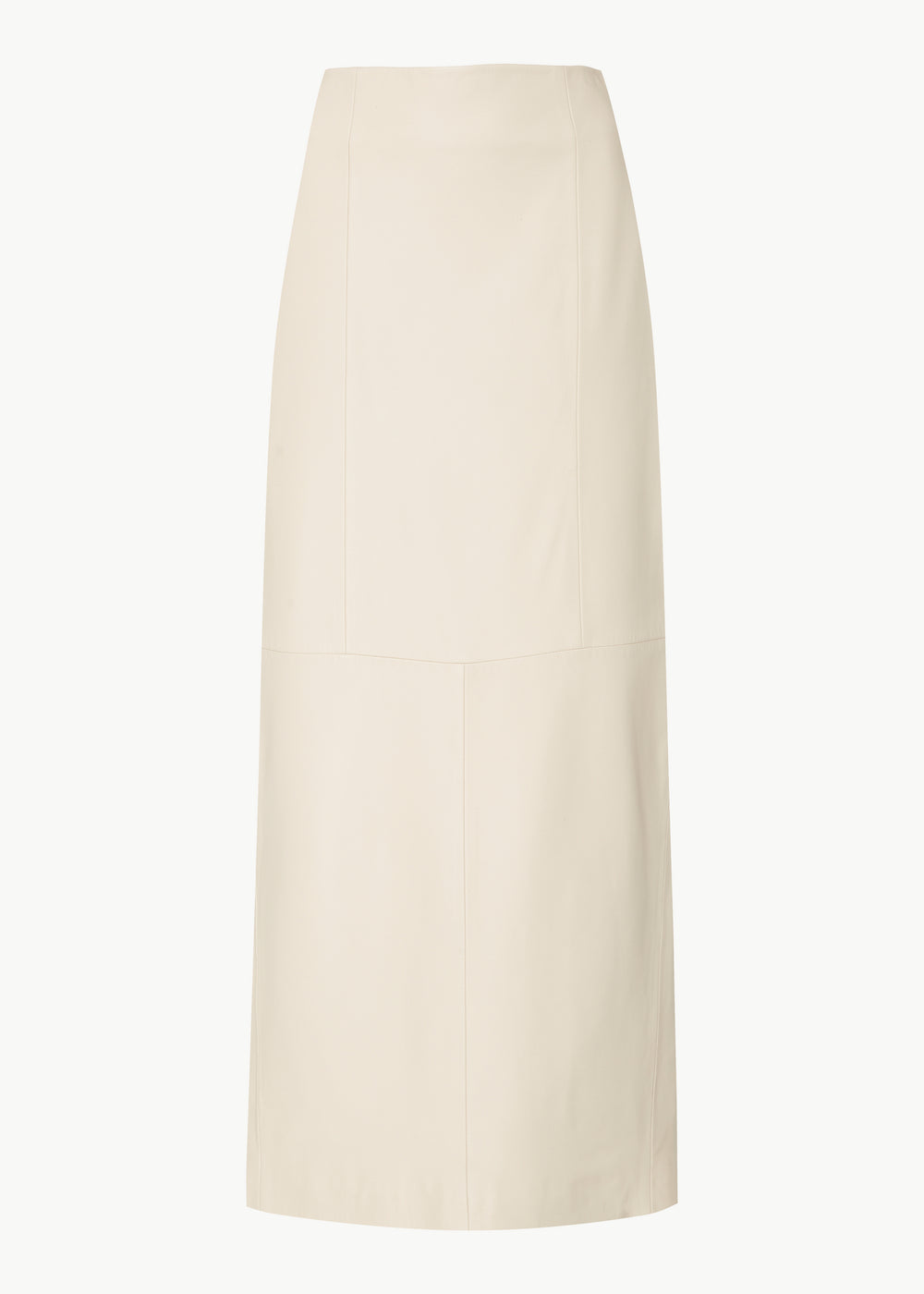 High Waisted Pencil Skirt in Lambskin - Ivory - CO