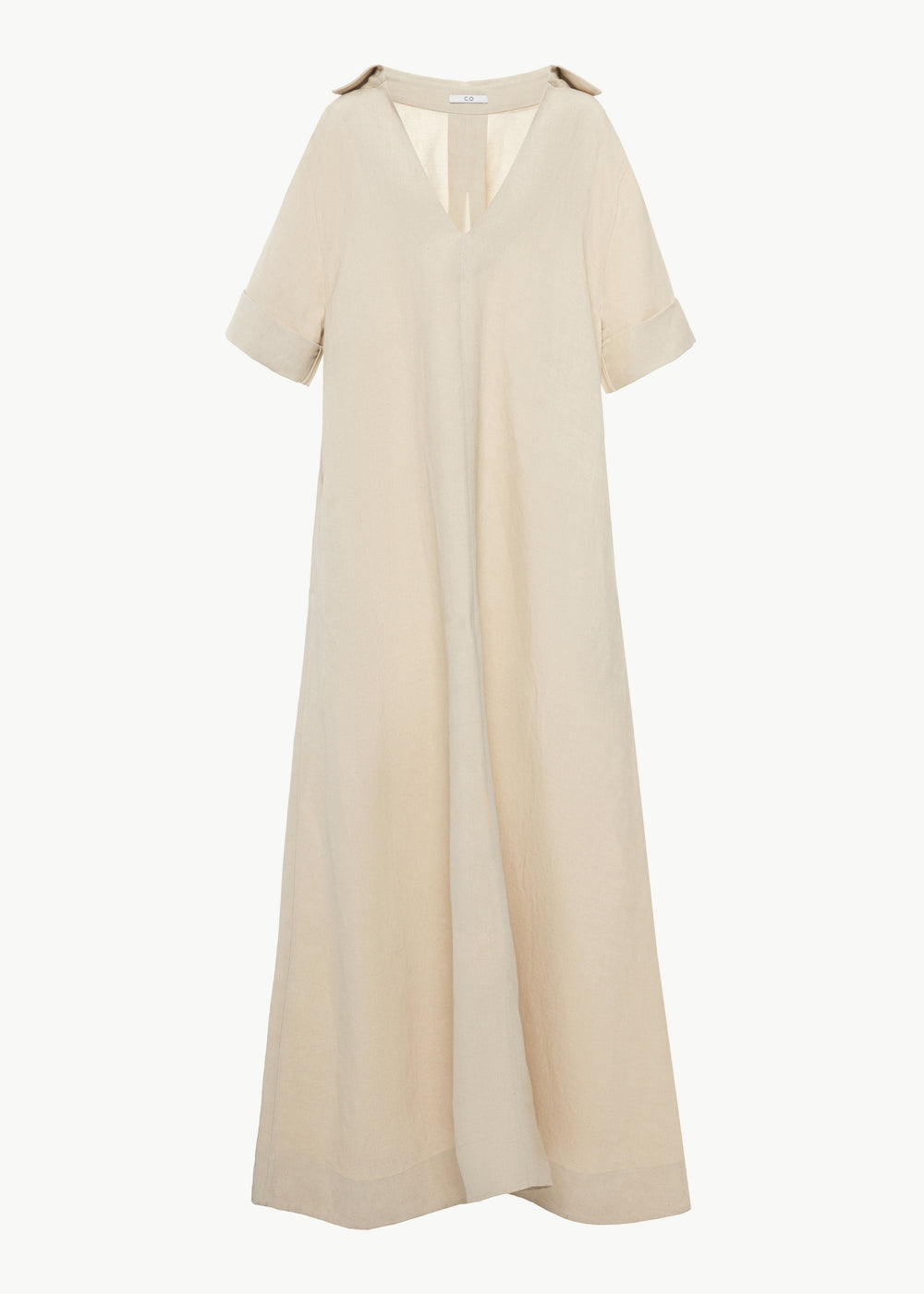 Oversized Shirt Dress in Linen - Taupe - CO