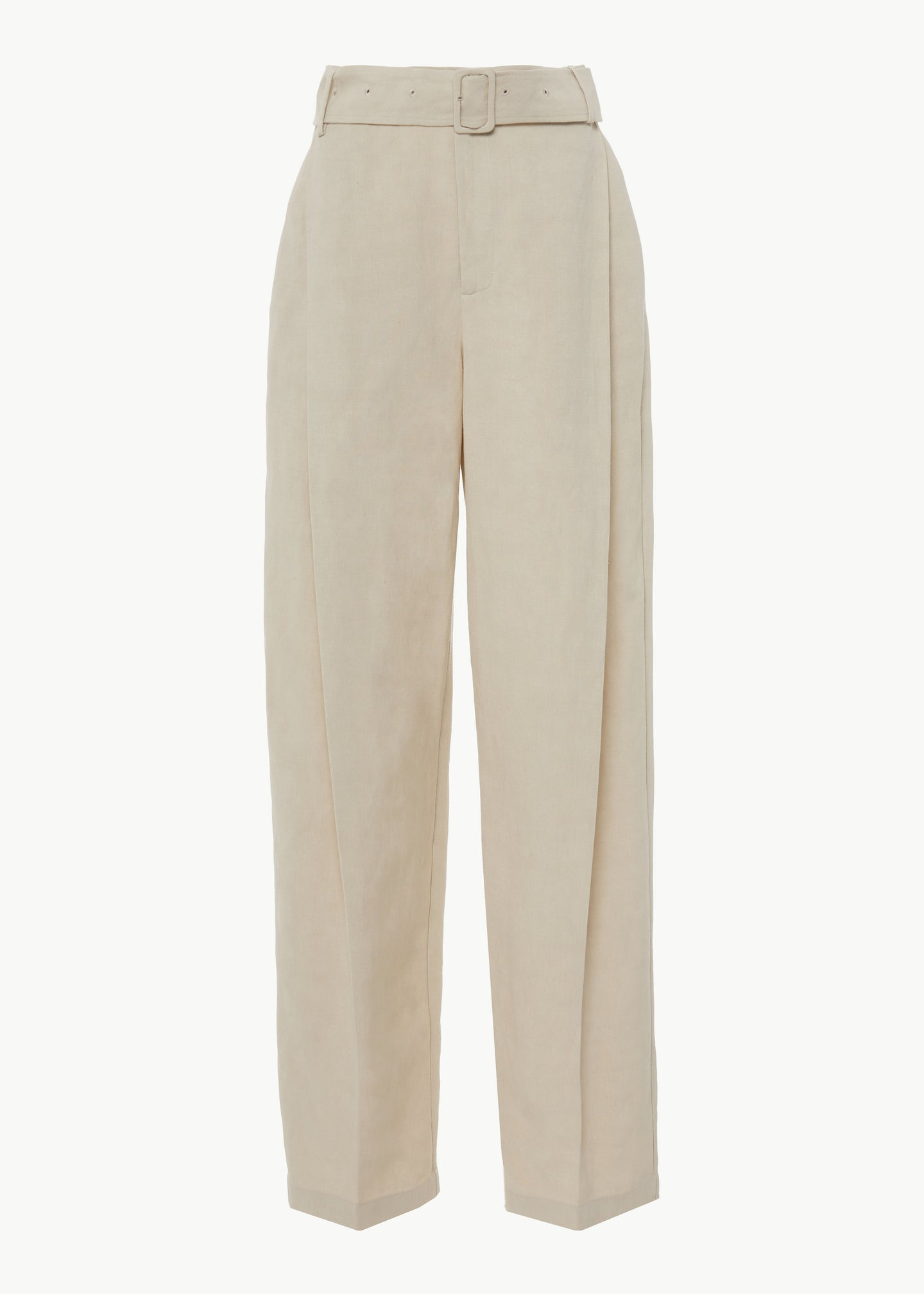 Belted Trouser in Linen - Taupe - Co Collections