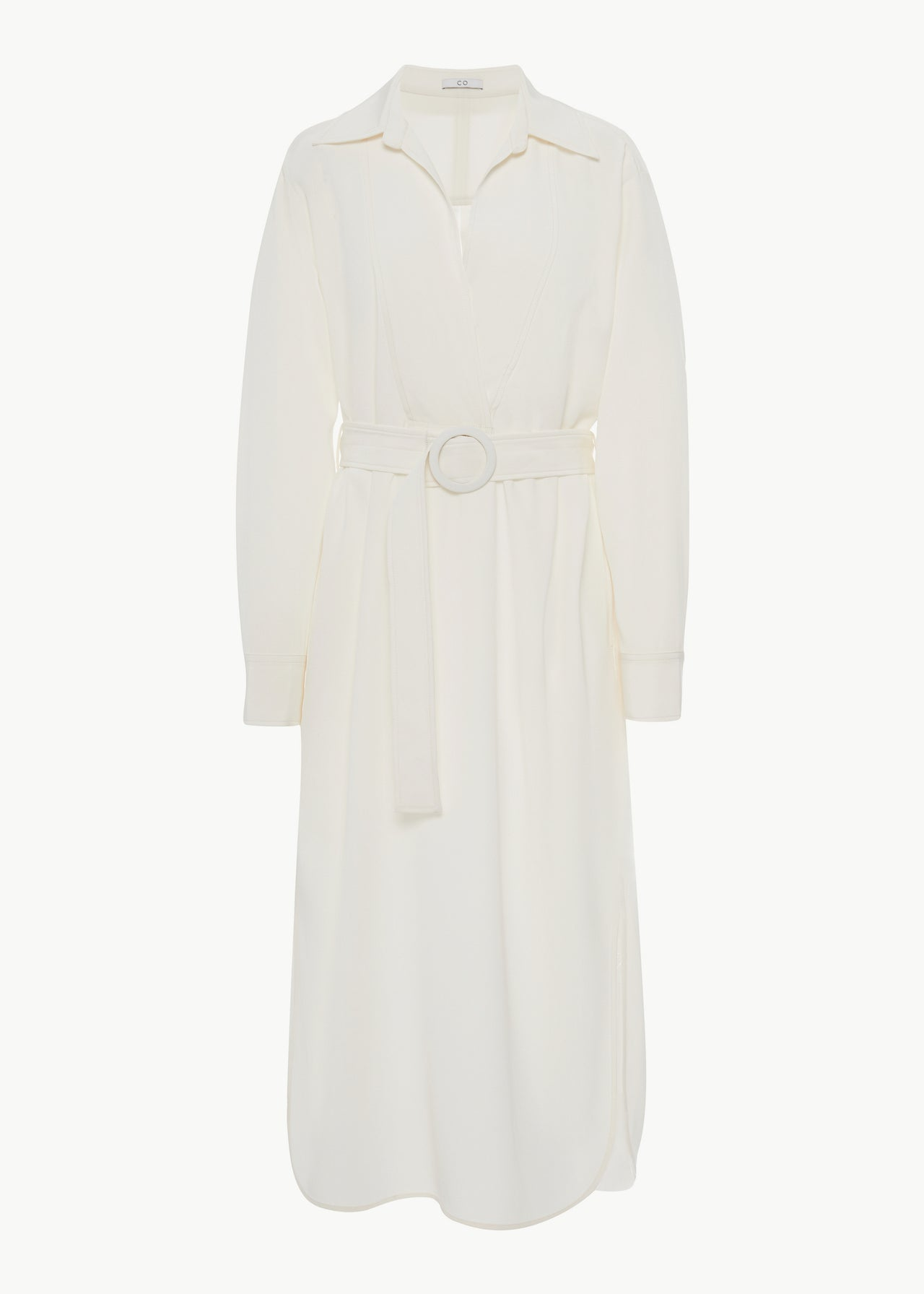Popover Dress in Stretch  Crepe - Ivory