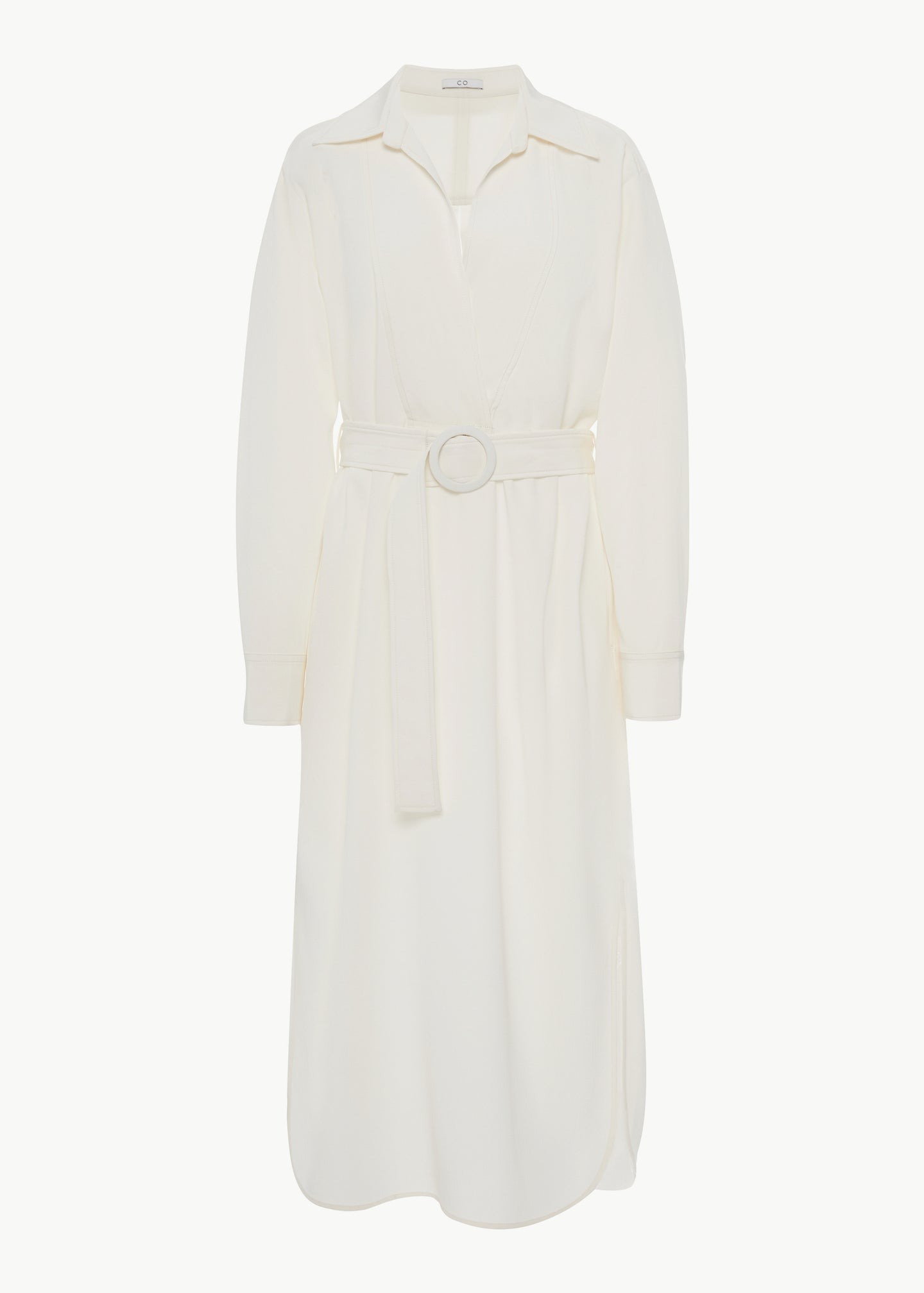 Popover Dress in Stretch  Crepe - Ivory - Co Collections