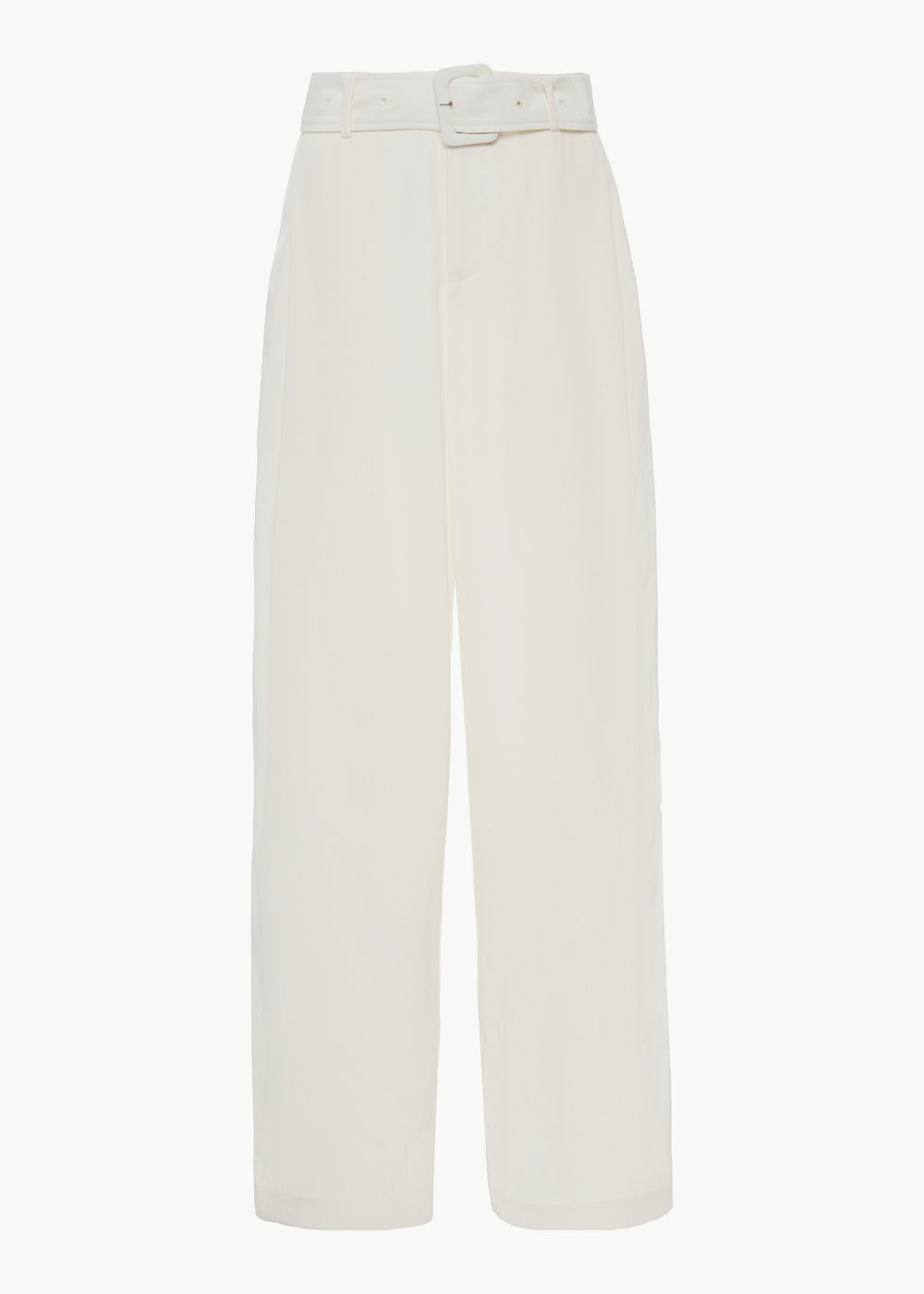 Belted Trouser in Stretch Crepe - Ivory - CO