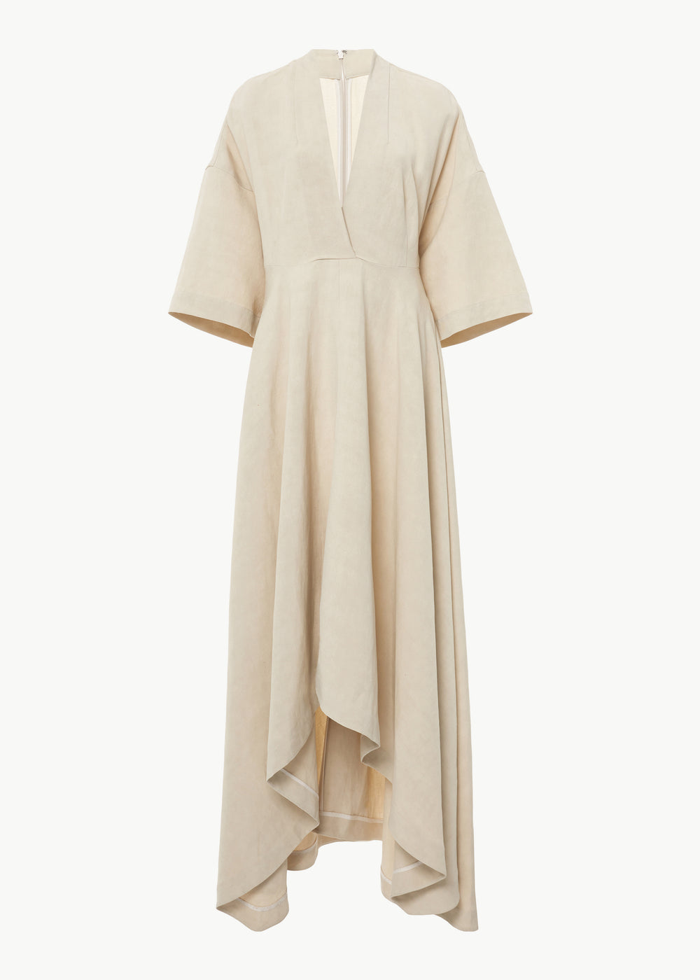 Surplice Dress in Linen - Taupe - CO