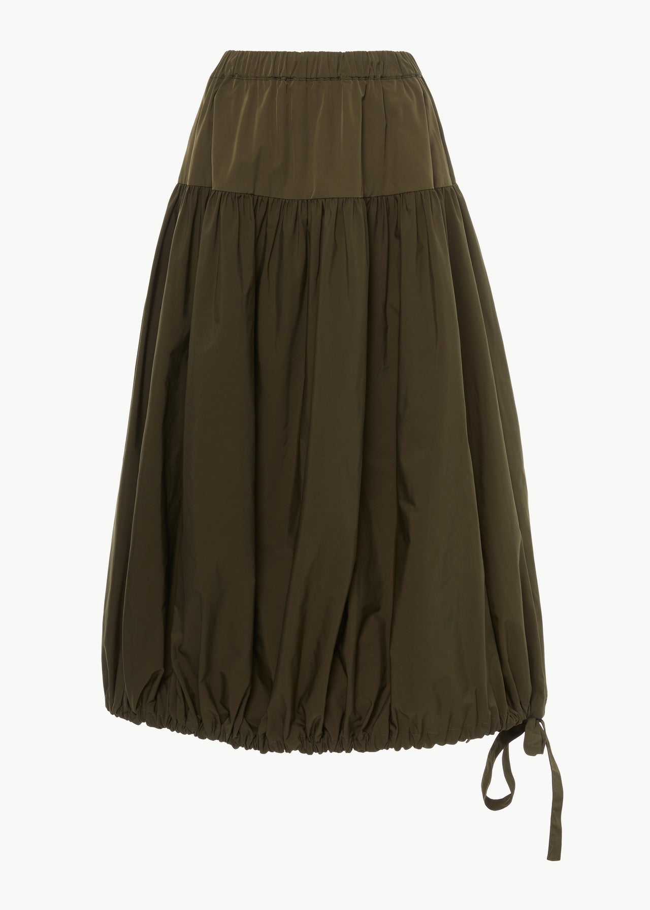 Bubble Skirt in Faille - Olive