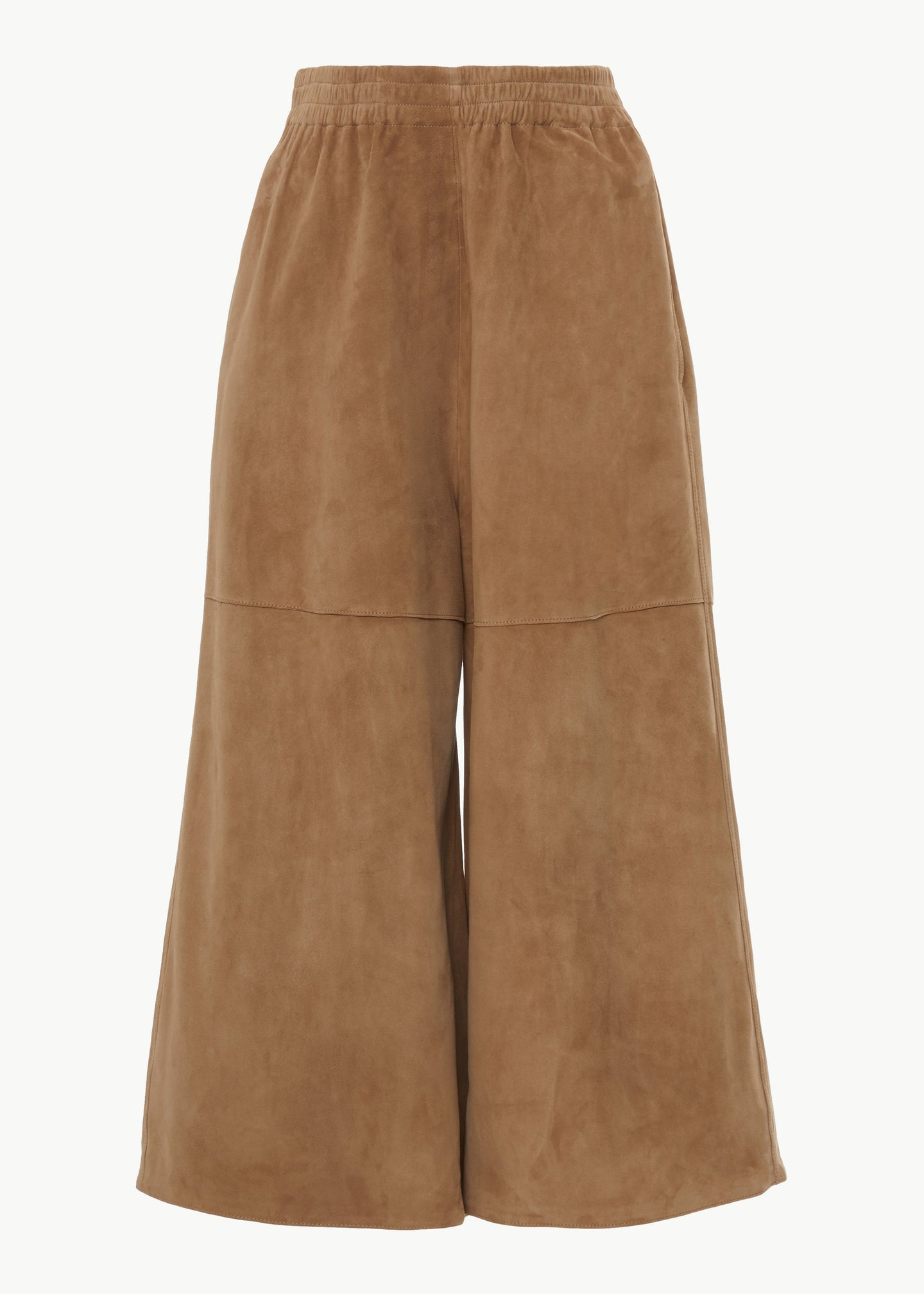 Gaucho Pant in Suede - Taupe - Co Collections