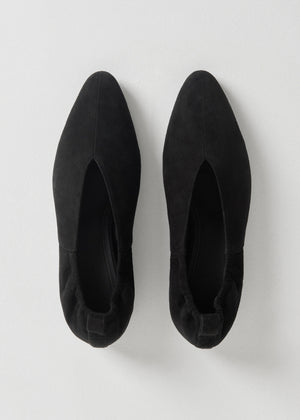 Ballet Flat in Suede - Black - CO
