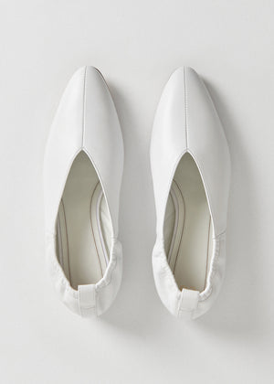 Ballet Flat in Smooth Leather - Ivory - CO