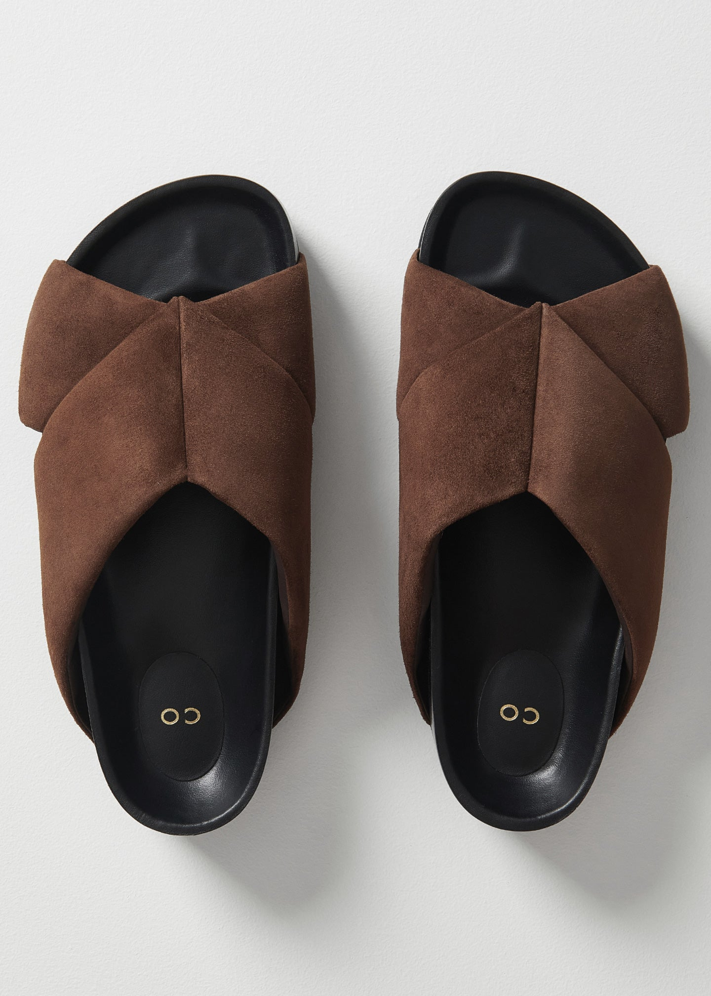 Slide Sandal in Suede - Dark Brown - CO