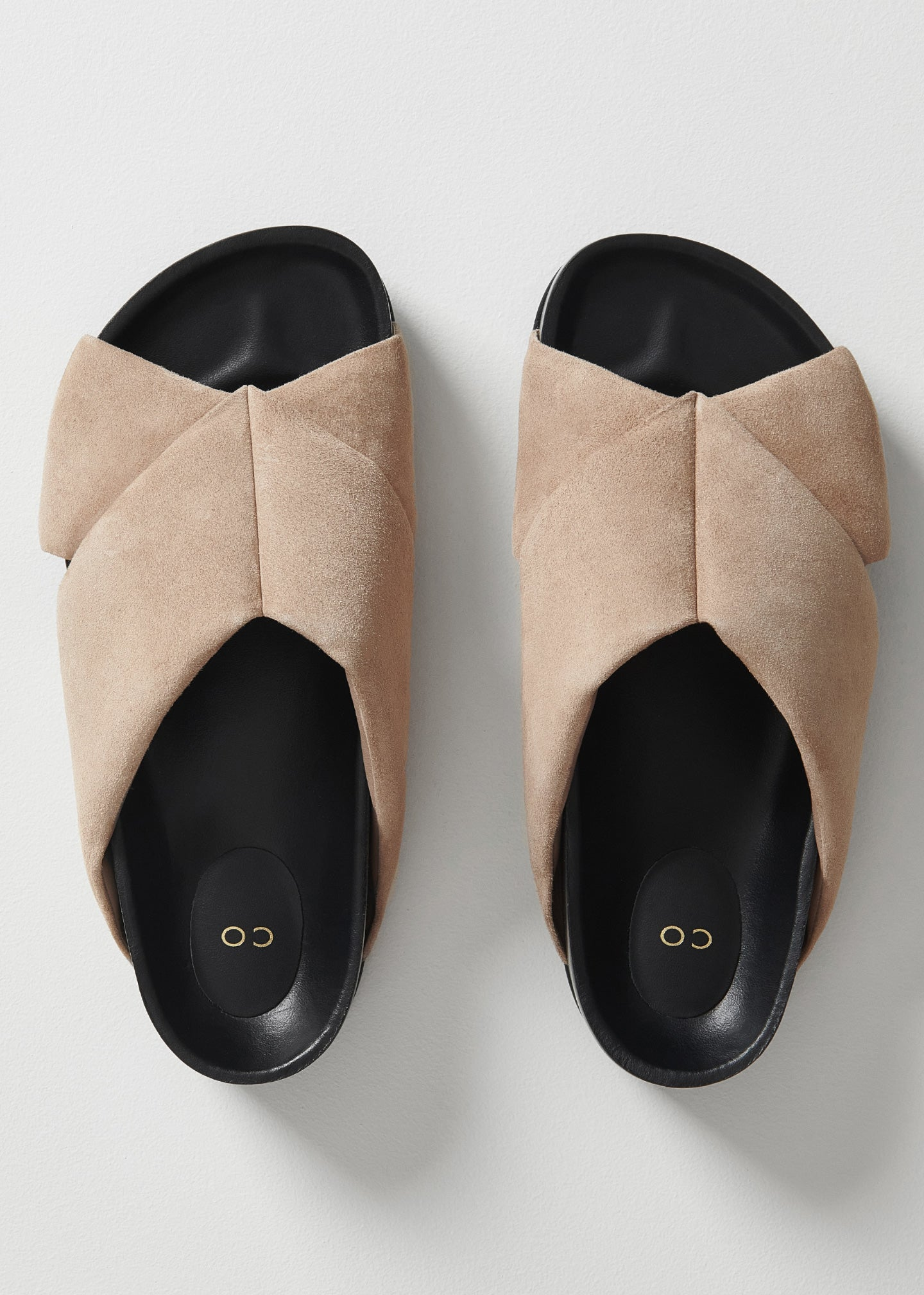 Slide Sandal in Suede - Sand - CO