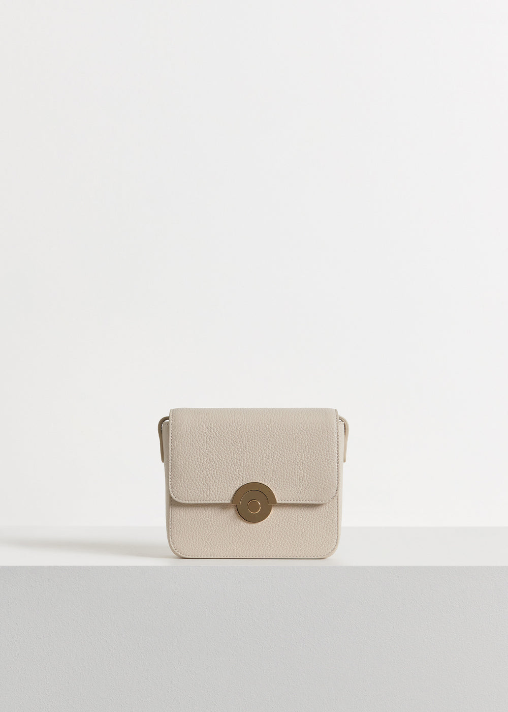 Small Box Bag in Pebbled Leather - Olive in Ivory by Co Collections