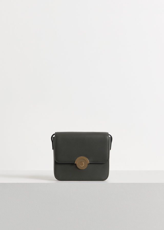 CO - Small Box Bag in Pebbled Leather - Olive