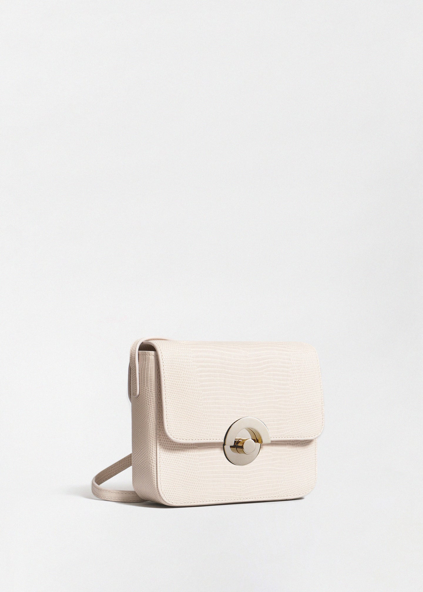 CO - Small Box Bag in Embossed Leather - Sand