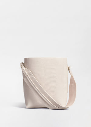 CO - Small Bucket Bag in Embossed Leather - Sand