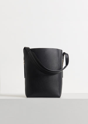 CO - Small Classic Tote in Pebbled Leather - Black