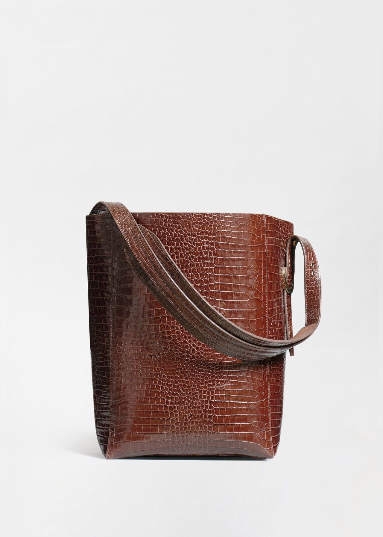 Small Classic Tote in Embossed Leather