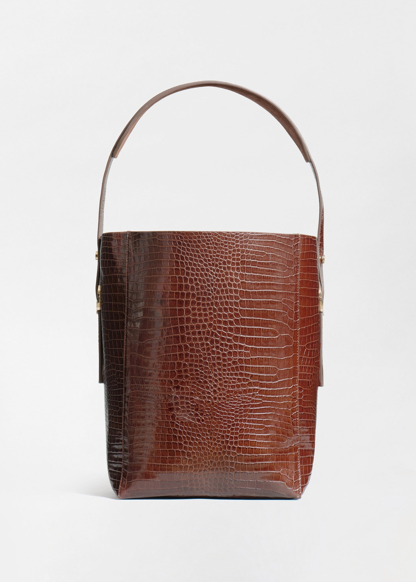 Small Classic Tote in Embossed Leather - Co Collections
