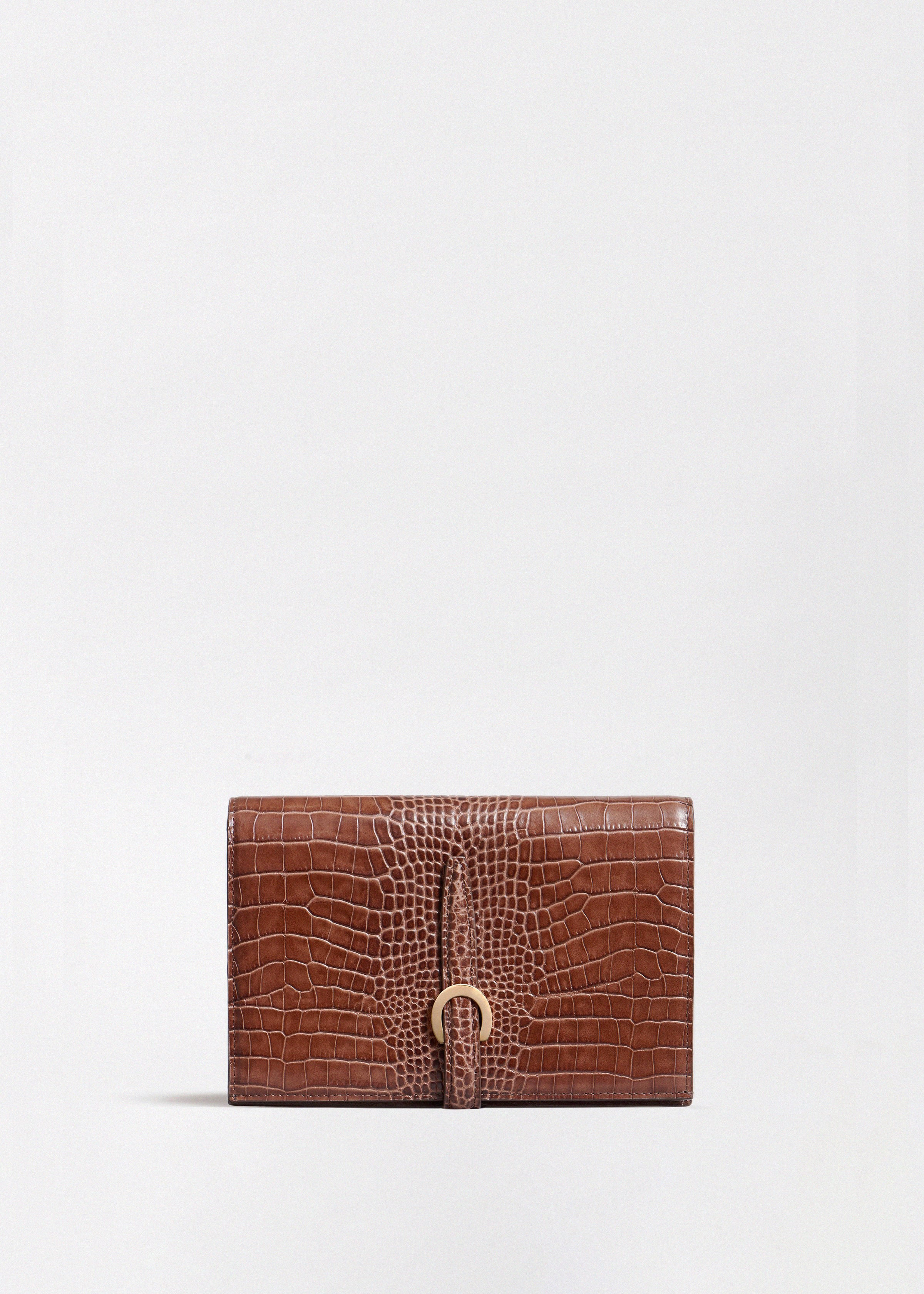 Strap Wallet in Embossed Leather