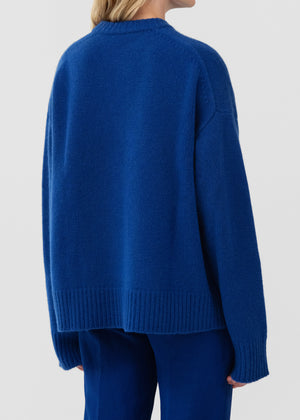 CO - Boyfriend Crewneck In Cashmere - Cobalt