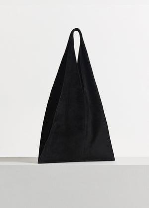 CO - Triangle Bag in Suede - Black