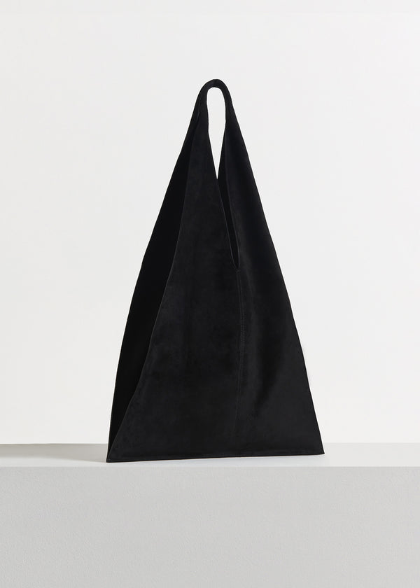 Triangle Bag in Suede - Black - CO