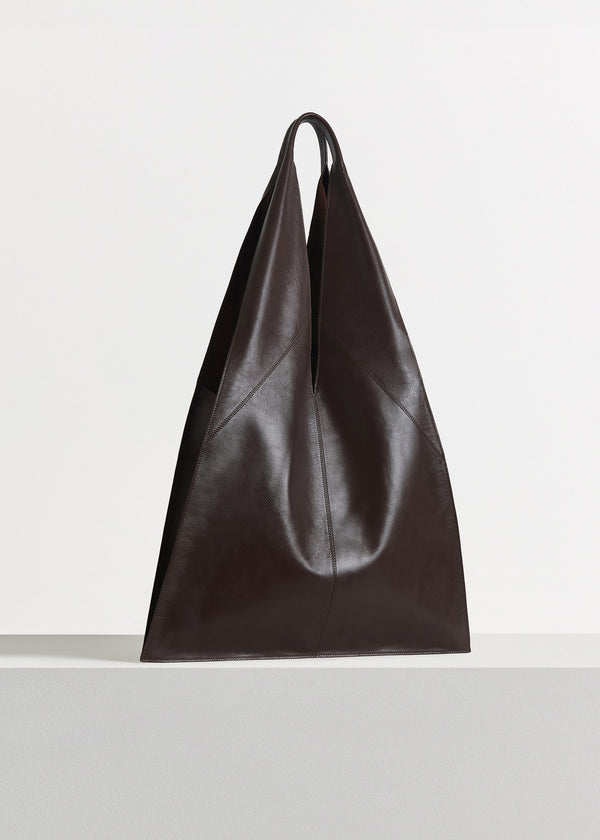 Triangle Bag in Nappa Leather - Dark Brown - CO