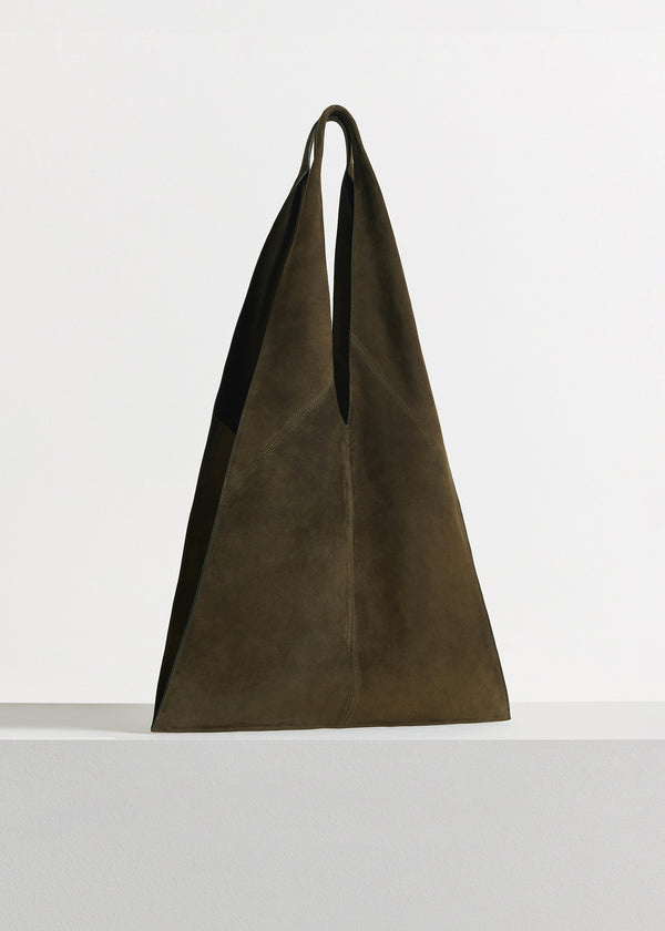 Triangle Bag in Suede - Taupe - CO
