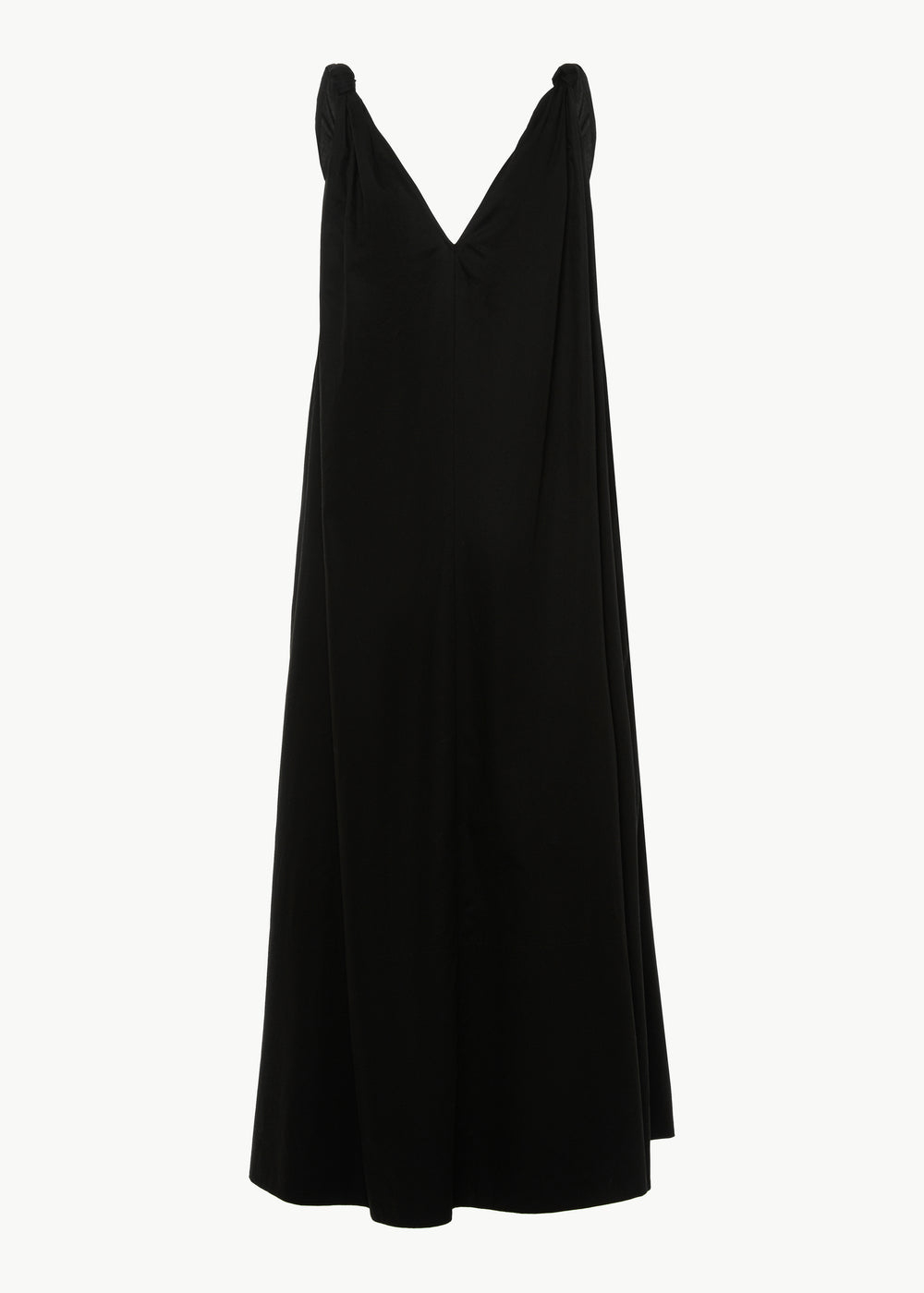 Knotted Strap Dress in Japanese Cotton - Black - CO