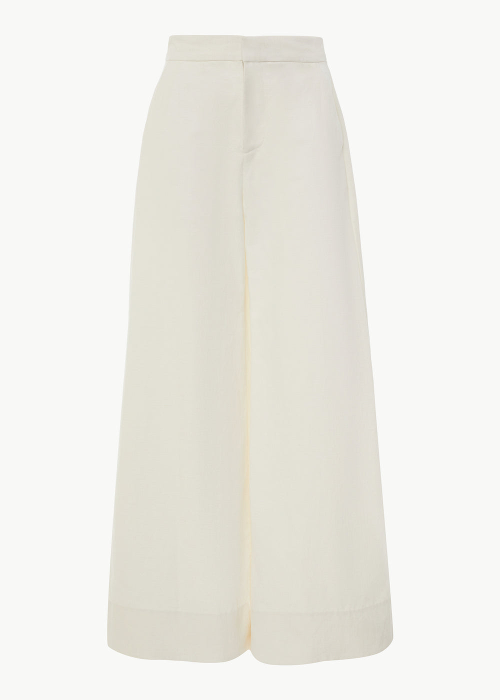Wide Leg Pant in Cotton Linen - Ivory - CO