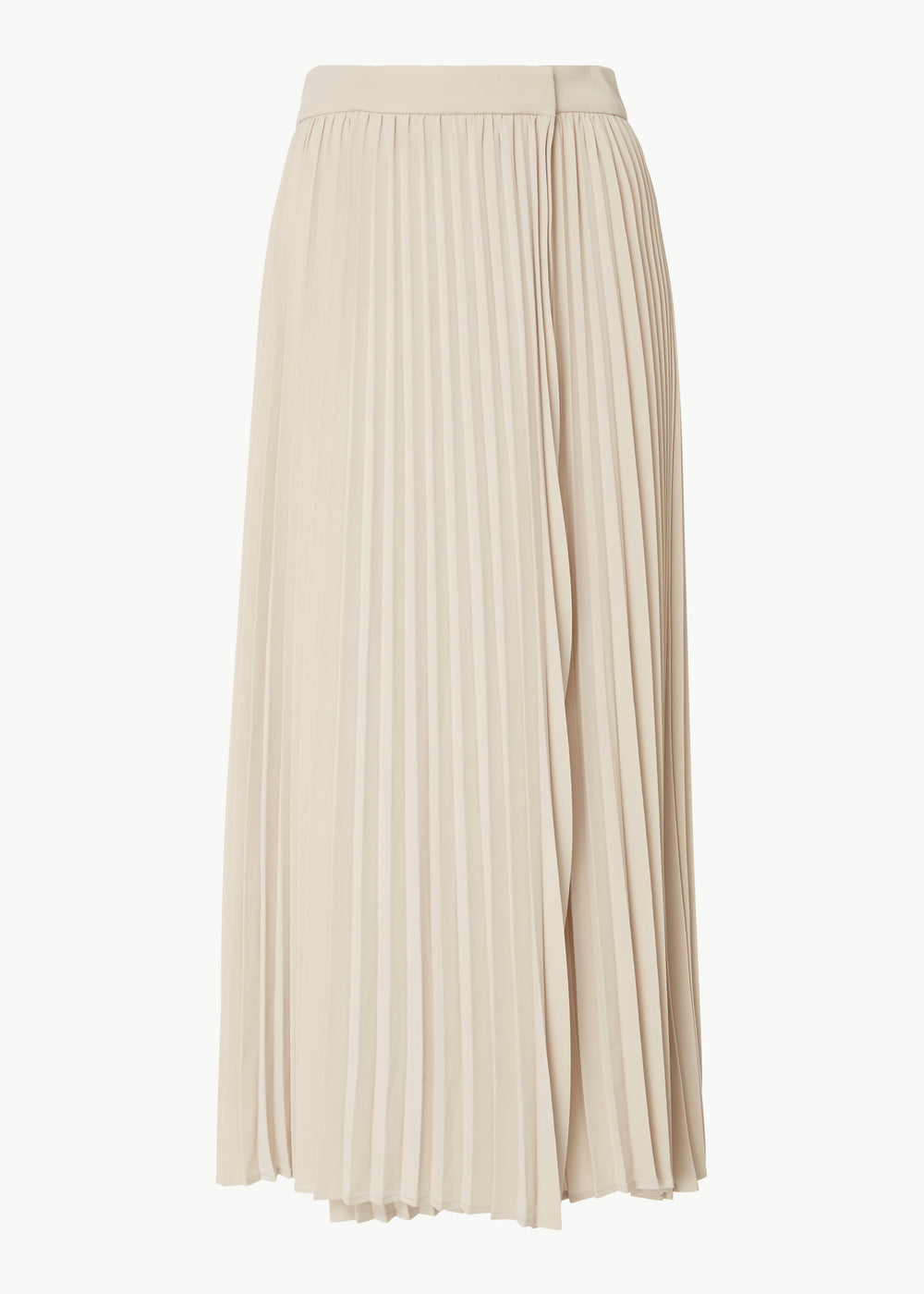 Pleated Wrap Skirt in Stretch Crepe - Champagne - CO