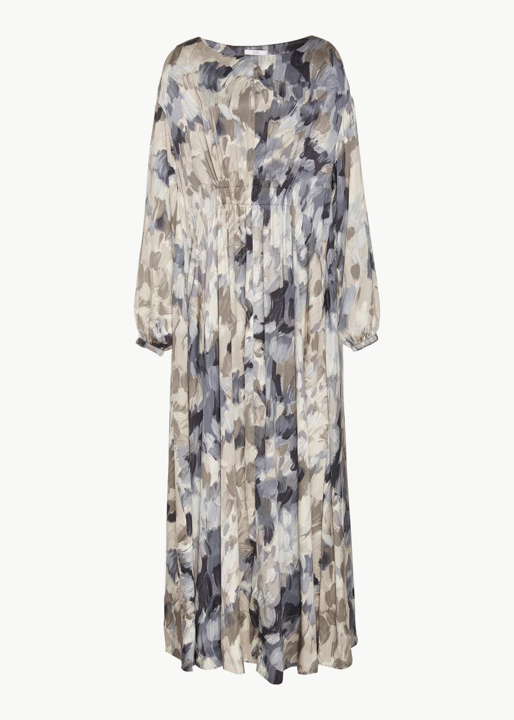 Caftan in Painterly Silk - Grey - CO Collections